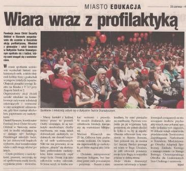 Artykuł w Tygodniku Miasto