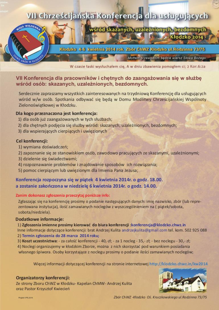 VII Chrześcijańska konferencja dla usługujących