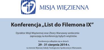 """Konferencja """"List do Filemona IX"""""""